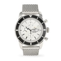 Breitling Superocean Héritage Chronograph pre-owned 46mm Silver Chronograph Date Steel