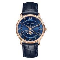 Blancpain Villeret Quantième Complet Красное золото 40mm Синий Римские
