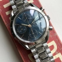 Omega Speedmaster Date Steel 39mm Blue No numerals United States of America, New York, Forest Hills