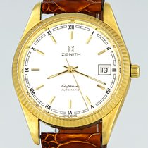 Zenith Yellow gold Automatic White Roman numerals 35.5mm pre-owned Captain