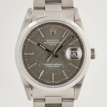 Rolex Oyster Perpetual Date Acero 34mm Gris Sin cifras