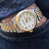 Rolex Lady-Datejust Or/Acier 31mm Blanc Romains