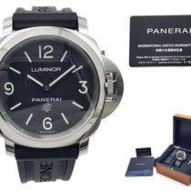 Panerai Luminor Base Logo Сталь 44mm Черный Aрабские