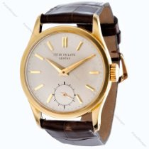 Patek Philippe Yellow gold Manual winding Silver No numerals 30.5mm pre-owned Calatrava