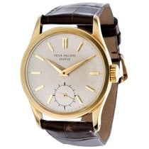 Patek Philippe Calatrava Yellow gold 30.5mm Silver No numerals United States of America, California, Los Angeles