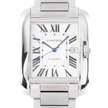 Cartier Tank Anglaise Stål 35mm Silver