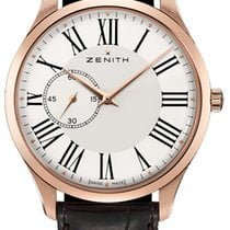 Zenith Rose gold Automatic White pre-owned Elite Ultra Thin