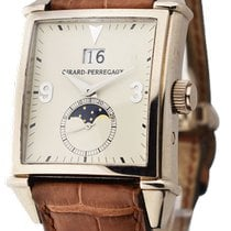 Girard Perregaux Or blanc Remontage automatique Champagne 32mm occasion Vintage 1945