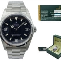 Rolex Explorer Steel 36mm Black Arabic numerals