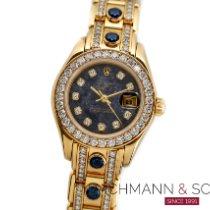 Rolex Lady-Datejust Pearlmaster Gelbgold 27mm Blau Keine Ziffern Deutschland, München