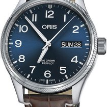Oris Big Crown ProPilot Day Date Steel 45mm Blue Arabic numerals