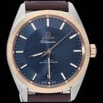 Omega Globemaster Or/Acier 39mm Bleu Sans chiffres