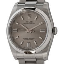 Rolex Steel Automatic Silver 36mm pre-owned Oyster Perpetual 36