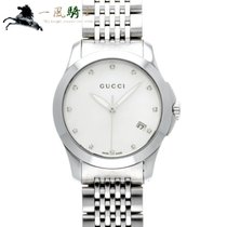 Gucci G-Timeless Acero 27mm Blanco