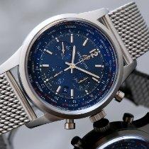 Breitling Transocean Unitime Pilot Steel 46mm Blue No numerals