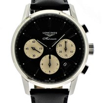 Longines Column-Wheel Chronograph Steel Black