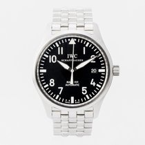 IWC Pilot Mark Stål 39mm Svart Arabisk