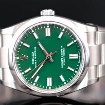 Rolex Oyster Perpetual 36 Steel 36mm Green No numerals United Kingdom, Whitby- North Yorkshire