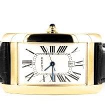 Cartier Tank Américaine gebraucht 45mm Weiß Leder