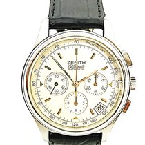 Zenith El Primero Chronograph pre-owned 38mm White Chronograph Date Leather