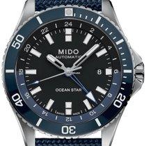 Mido Ocean Star Stal 44mm Niebieski