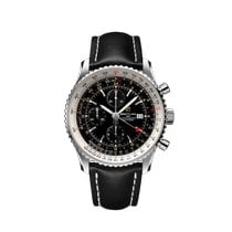 Breitling Navitimer GMT Steel 46mm Black No numerals United States of America, New York, New York City