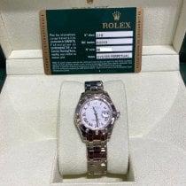 Rolex Lady-Datejust Pearlmaster Ouro branco 29mm Branco Romanos