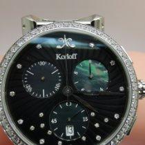 Korloff Steel 38mm Quartz VABSD new
