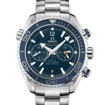 Omega Seamaster Planet Ocean Chronograph Titane Bleu Sans chiffres