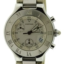 Cartier 21 Chronoscaph Steel 38mm White United States of America, New York, New York