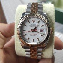Rolex Datejust Turn-O-Graph Oro/Acciaio 36mm Bianco Senza numeri Italia, Buttigliera Alta