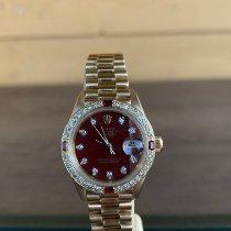 Rolex Lady-Datejust Geelgoud 26mm Bordeaux Geen cijfers