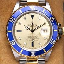Rolex Submariner Date Zlato/Ocel 40mm Zlatá Bez čísel