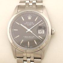 Rolex Oyster Perpetual Date Acier 34mm Noir