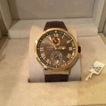 Ulysse Nardin new Automatic Small seconds Chronometer 43mm Gold/Steel Sapphire crystal