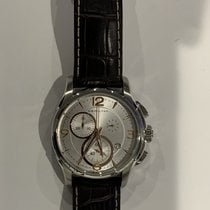 Hamilton Jazzmaster pre-owned 42mm Silver Chronograph Date Leather