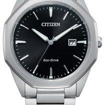 Citizen Silver Black No numerals 41mm new