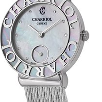 Charriol Steel Quartz Mother of pearl new St-Tropez