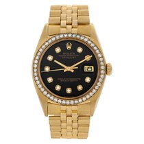 Rolex Datejust Turn-O-Graph pre-owned 36mm Black Date Yellow gold