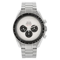 Omega Speedmaster Steel 40mm White No numerals