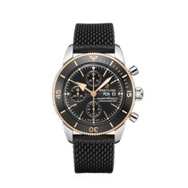 Breitling Superocean Héritage II Chronographe Gold/Steel 44mm Black United States of America, New York, Forest Hills