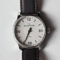 Meistersinger Urban Steel 40mm White Arabic numerals
