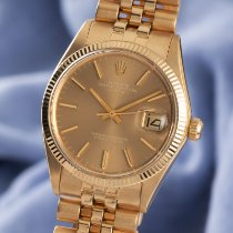 Rolex 1503 Yellow gold 1975 Oyster Perpetual Date 34mm pre-owned