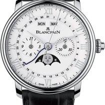 Blancpain Villeret Complete Calendar Staal 40.30mm Wit Romeins