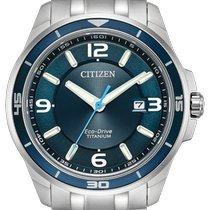 Citizen Titanium 42mm Blue Arabic numerals United States of America, New York, Bellmore