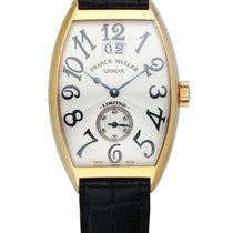 Franck Muller Yellow gold Automatic Grey 30mm pre-owned Cintrée Curvex