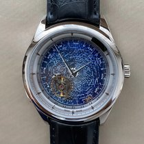 Jaeger-LeCoultre White gold Manual winding Blue No numerals 44mm new Master Grande Tradition