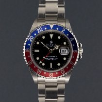 Rolex GMT-Master II Acél 40mm Fekete Számjegyek nélkül