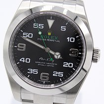 Rolex Air King Stål 40mm Svart