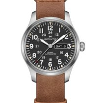 Hamilton Khaki Field Day Date Steel Black Arabic numerals United States of America, New York, Brooklyn
